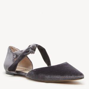Sole Society Ballet Flats Teena Grey Velvet 7